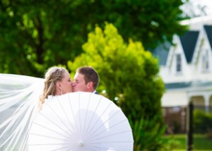 Omarino wine park christchurch wedding venue bride groom kissing
