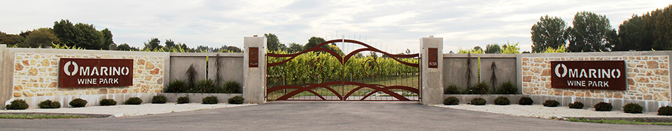 Omarino wine park christchurch wedding venue gates